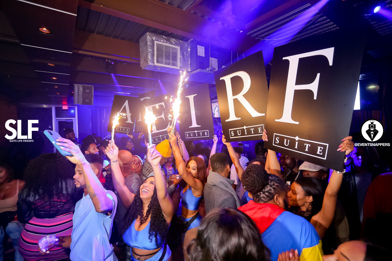 Bottle service and dance floor at Suite Atlanta