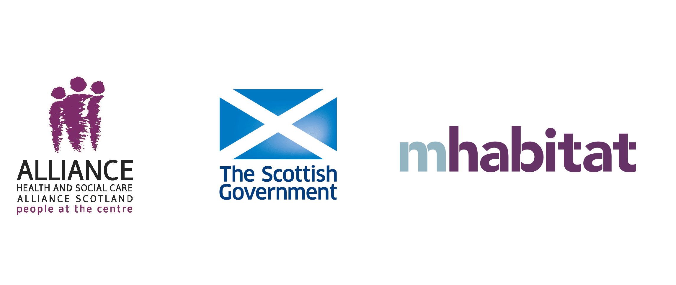 Logos of project partners: the ALLIANCE, the Scottish Government and mHabitat