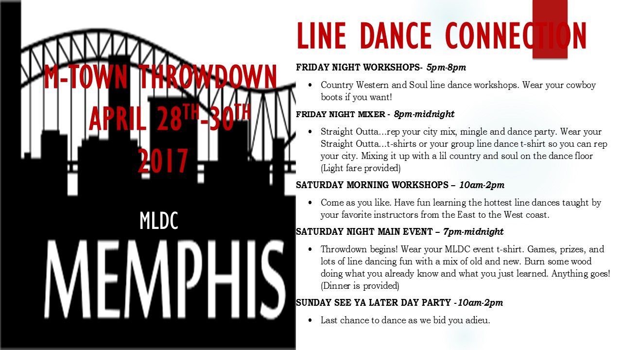 DANCE PARTY ITINERARY