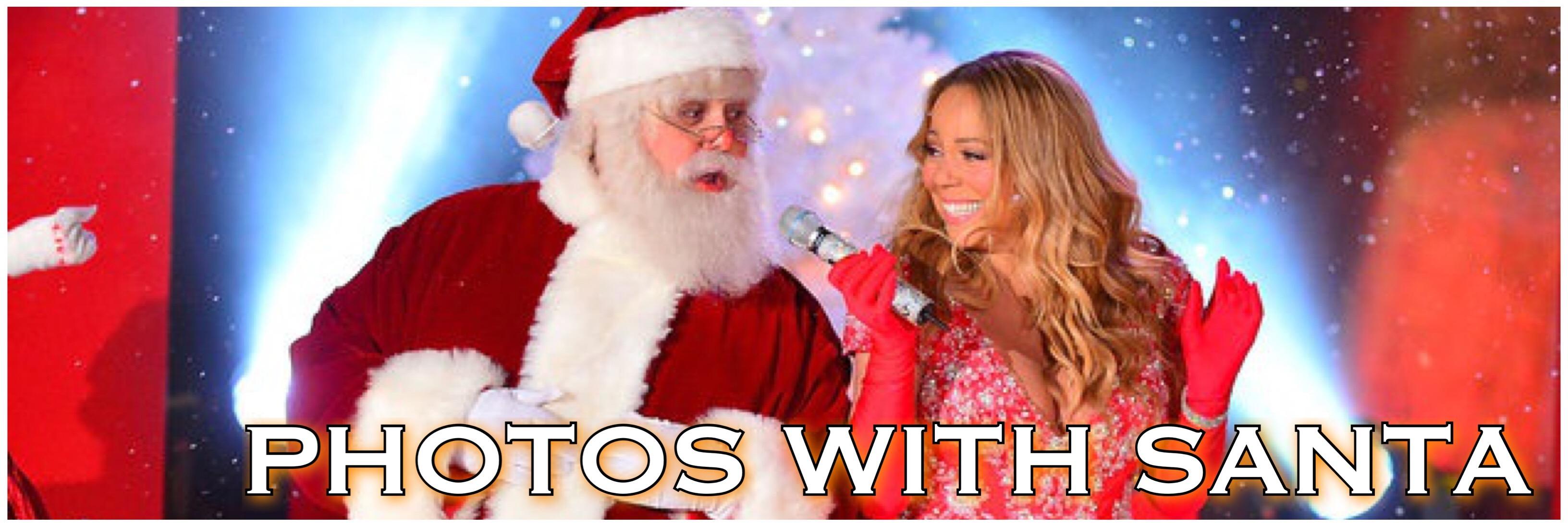 Mariah and Santa banner