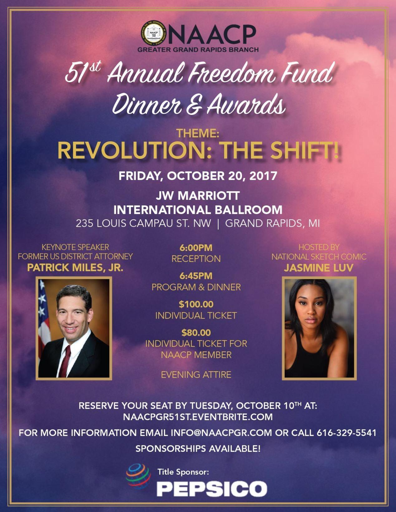 NAACP Grand Rapids 51st Freedom Fund Awards & Gala