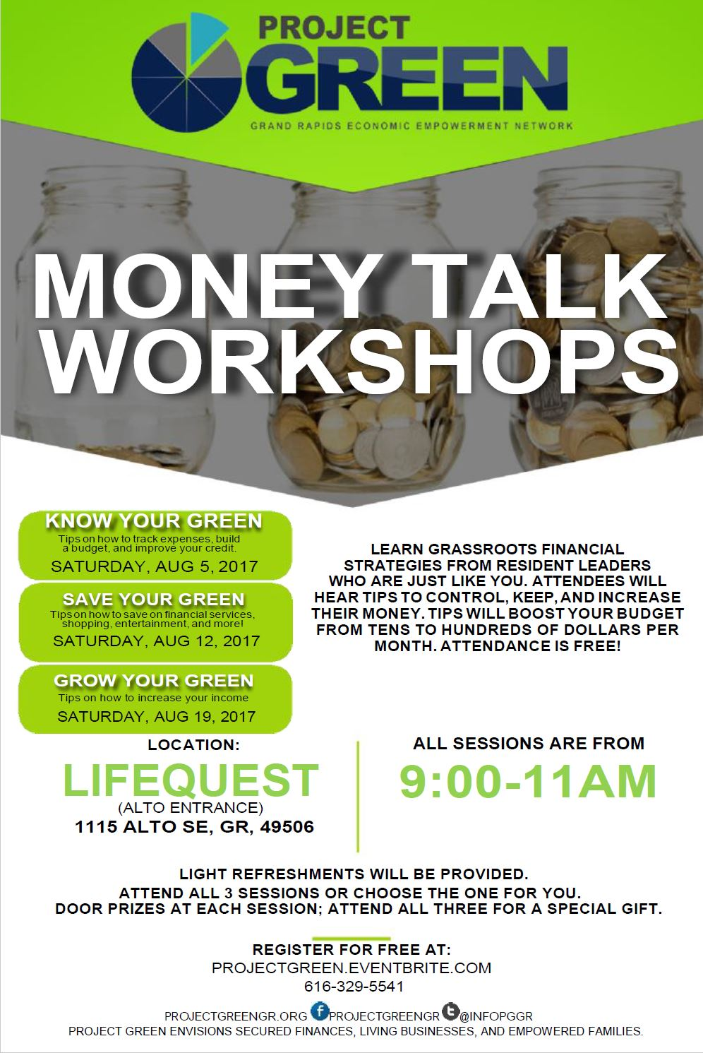 Project GREEN Money Talk Workshop - Summer Series