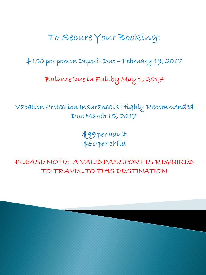 secure your booking