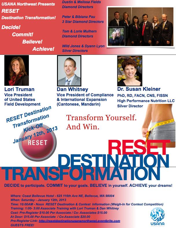 RESET Destination Transformation 1/12/13