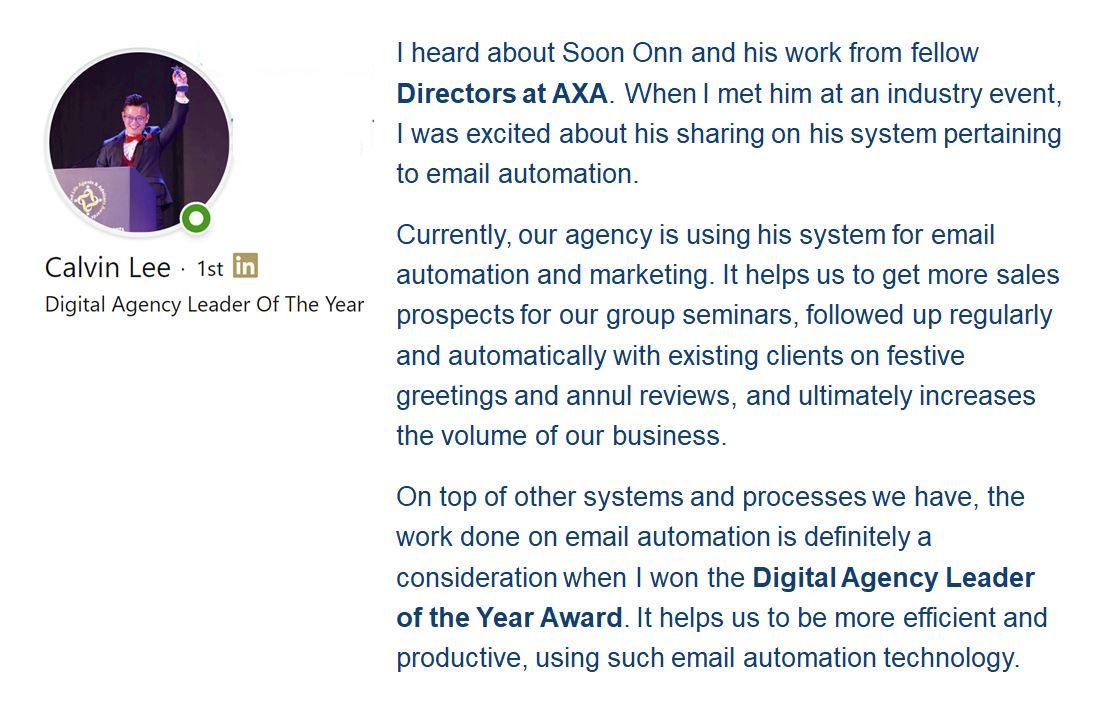 Digital Agency Leader of the Year - Calvin Lee