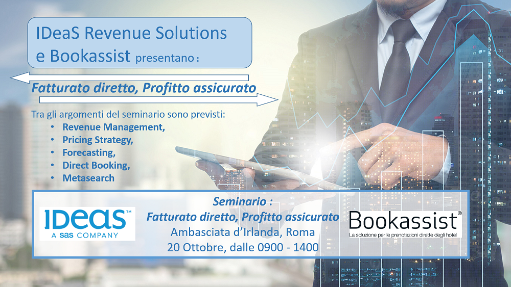 IDeaS and Bookassist Seminario Roma Ott 20 2016