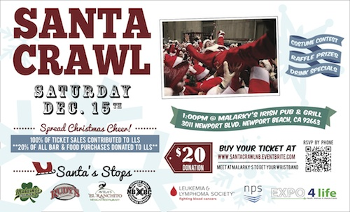 Santa Crawl Newport Beach