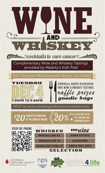 Wine & Whiskey: Cocktails to Cure Cancer