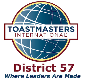 Toastmasters District 57 - Where Leaders Are Made Logo