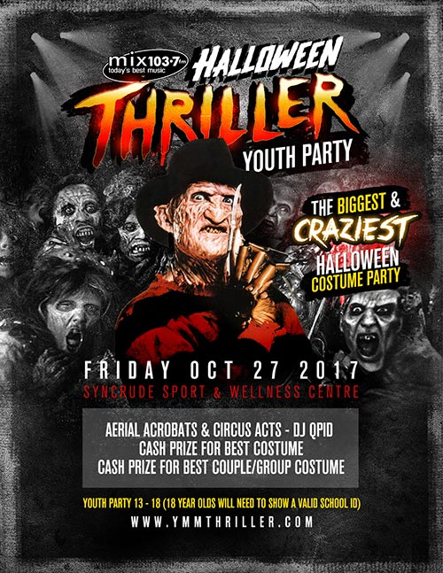 Halloween Thriller Youth Party @ Syncrude Sports and Wellness Centre | Fort McMurray | Alberta | Canada