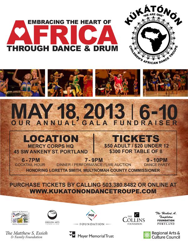 2013 Kukatonon Gala Fundraiser Poster