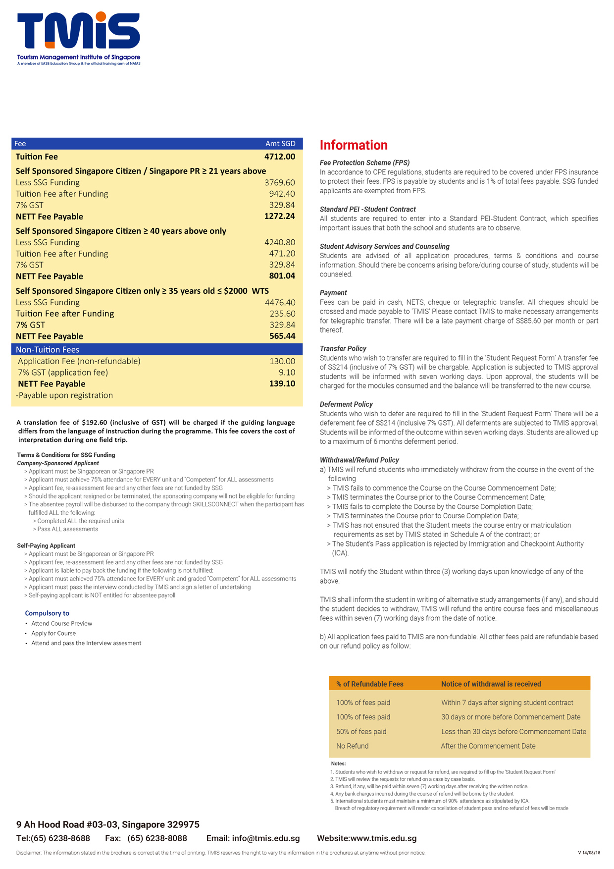 WSQ Tourist Guide Programme II