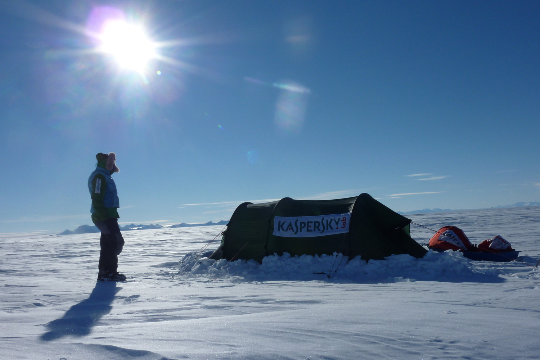 Sunny evening Antarctica Felicity Aston