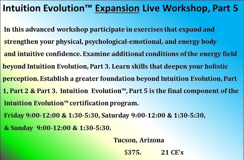Intuition Evolution, Part 5