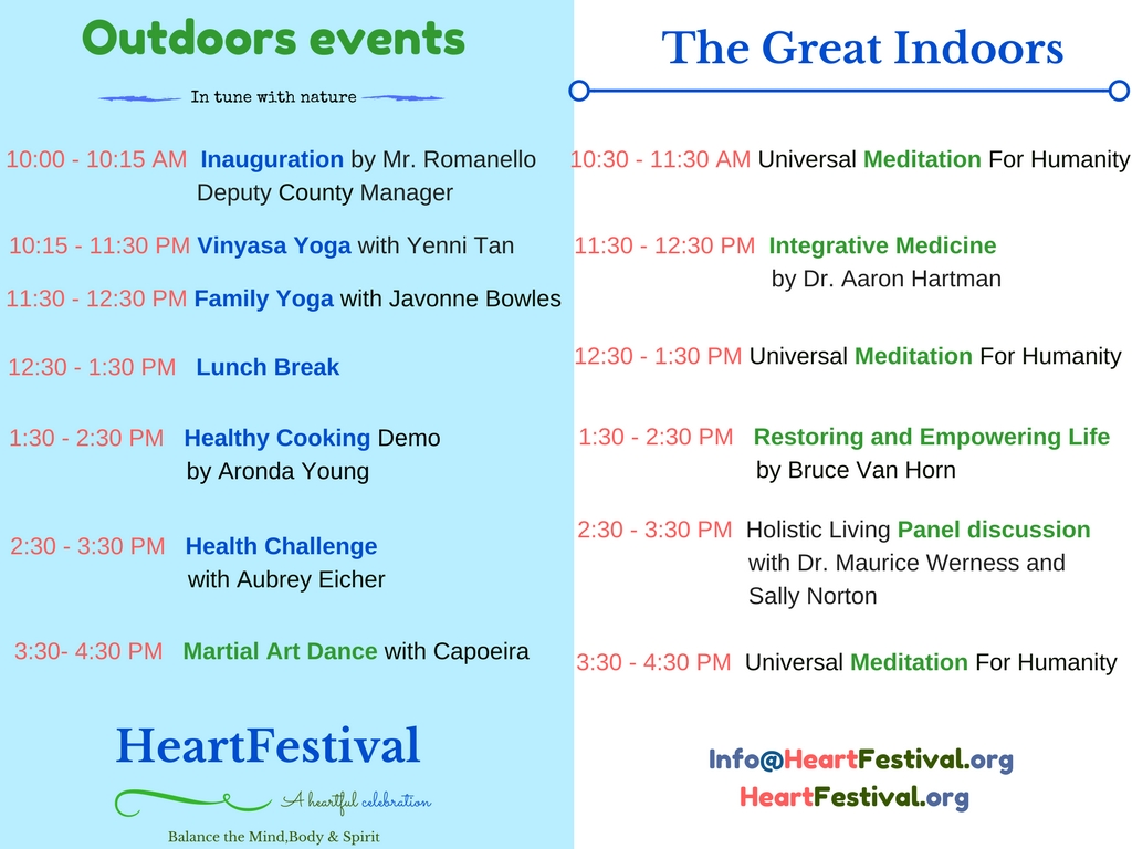 Heartfest Schedule