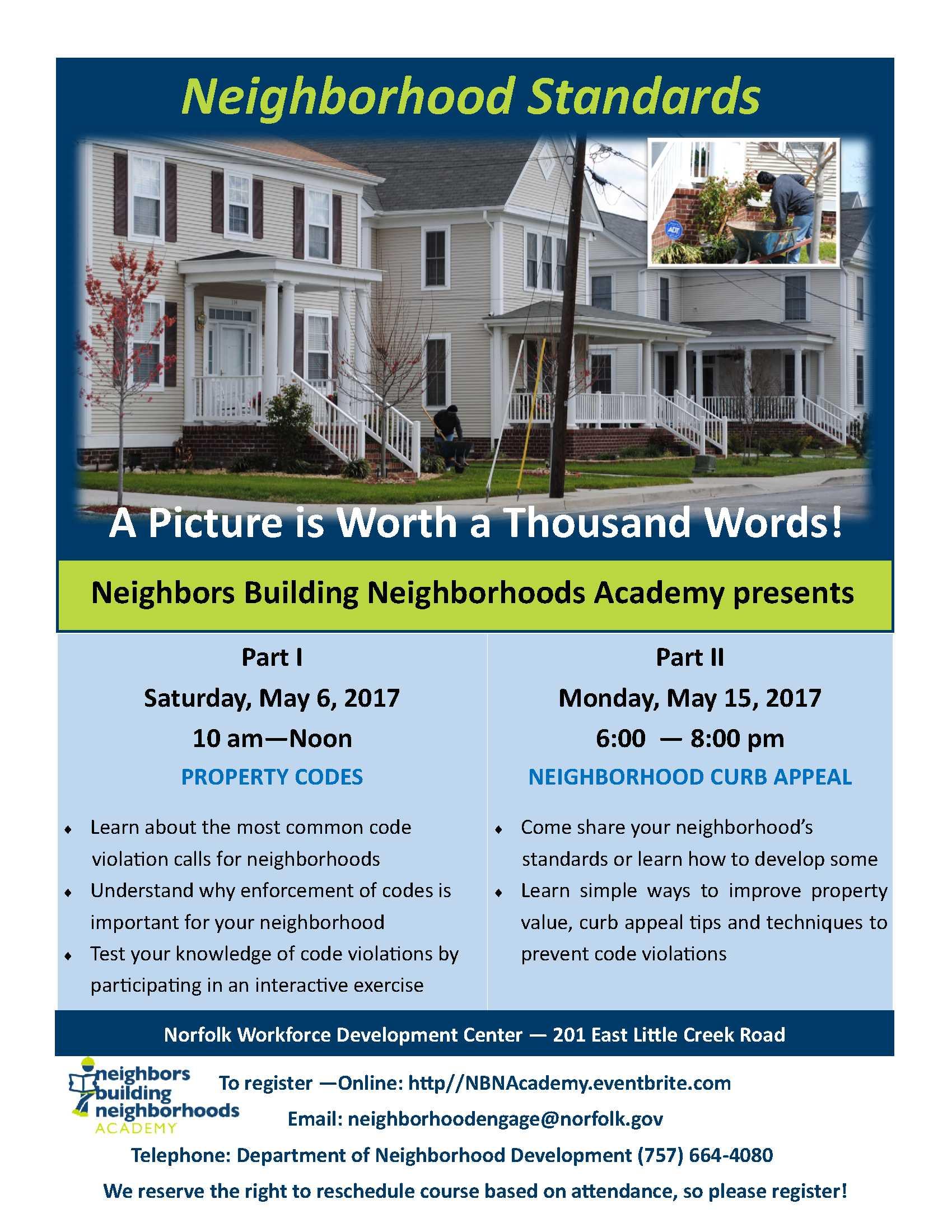 neighborhood standards 2017