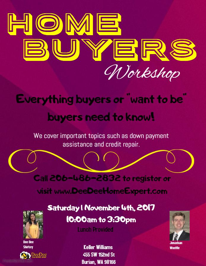 November 4th Home Buyers Workshop