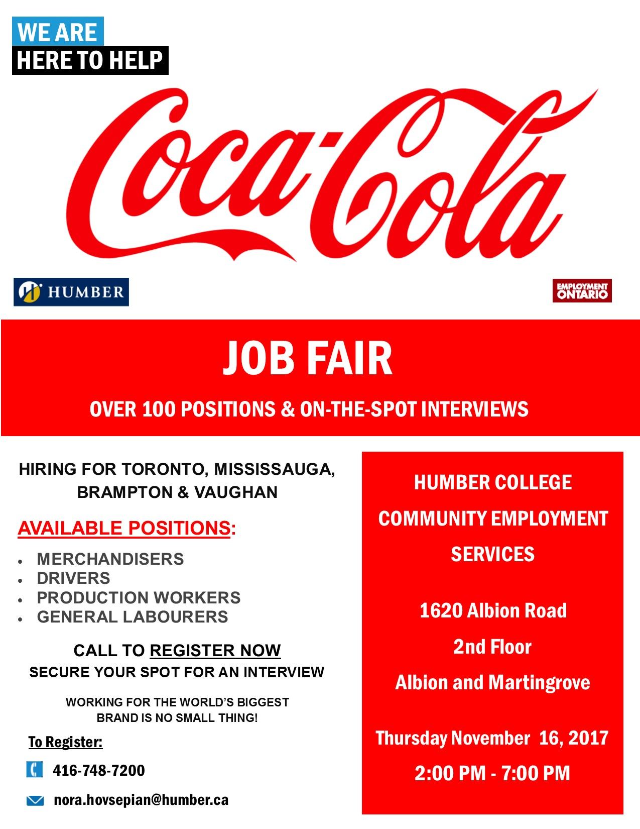 Coca Cola Job Fair