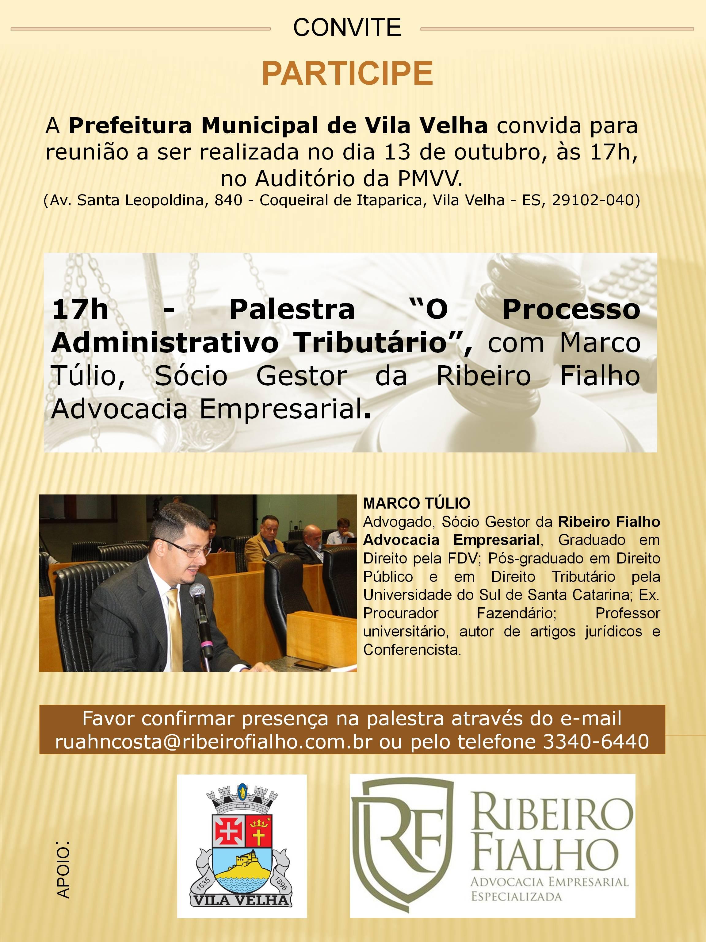 Palestra O Processo Administrativo Tributário