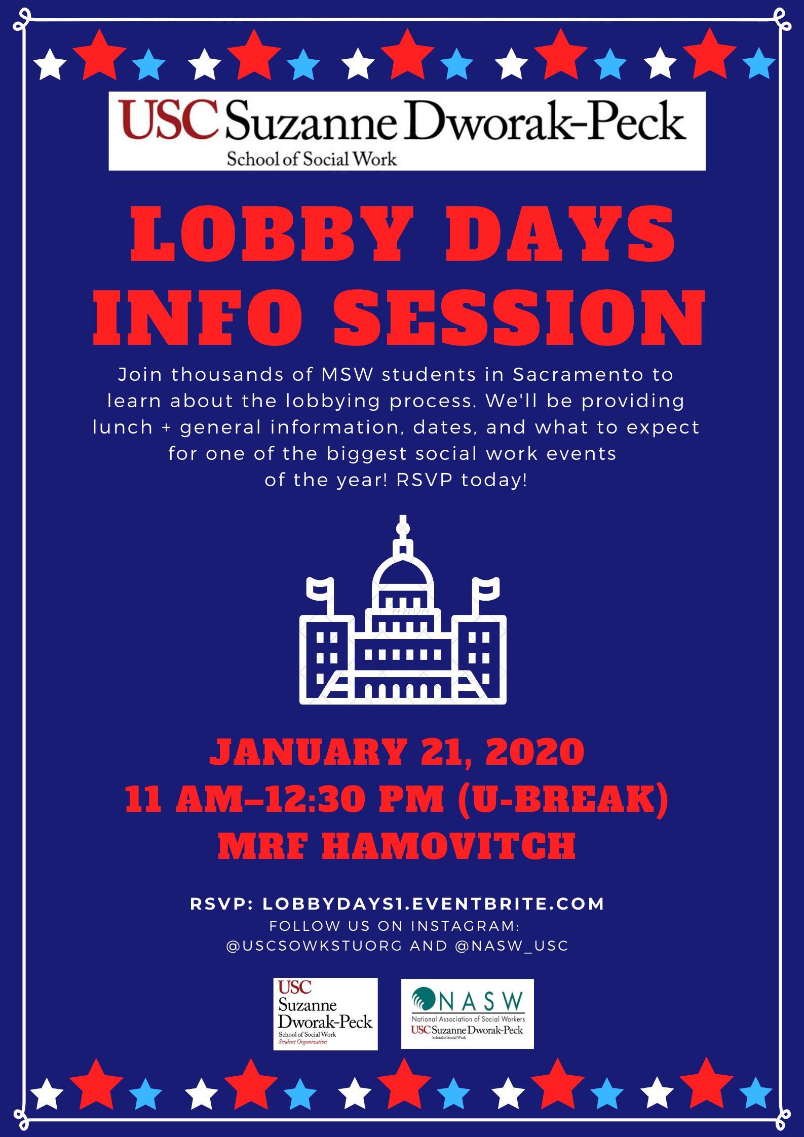 Usc Fall Semester 2020.Lobby Days Info Session Registration Tue Jan 21 2020 At