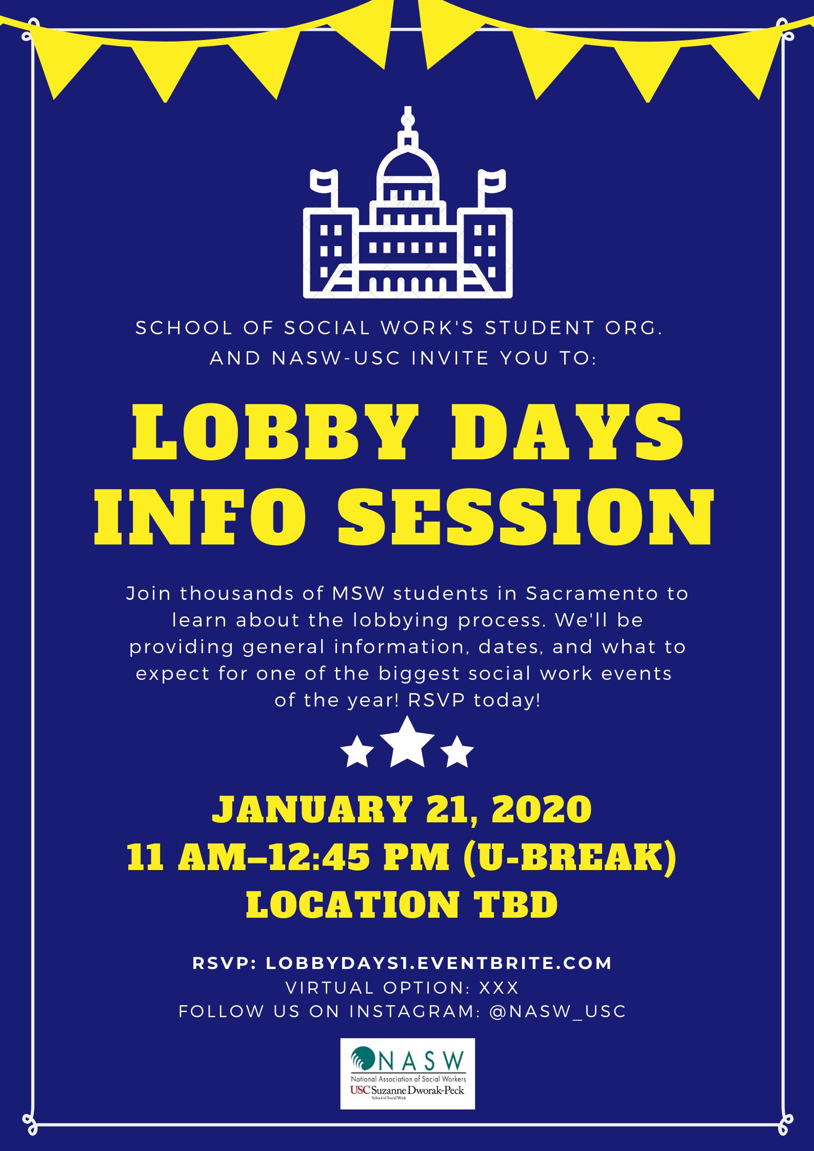 Usc Fall Semester 2020.Lobby Days Info Session 1 Registration Tue Jan 21 2020