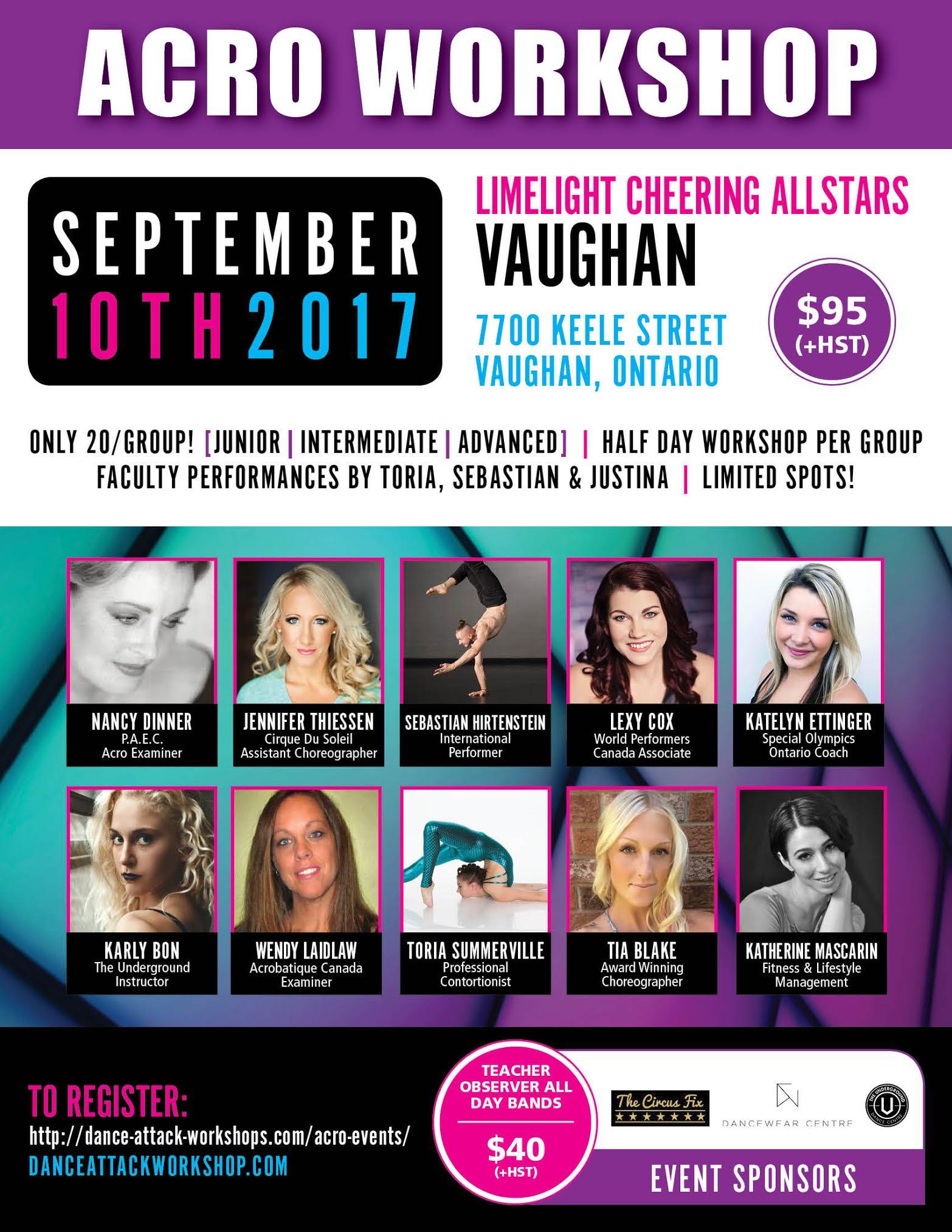 Vaughan Acro Workshop