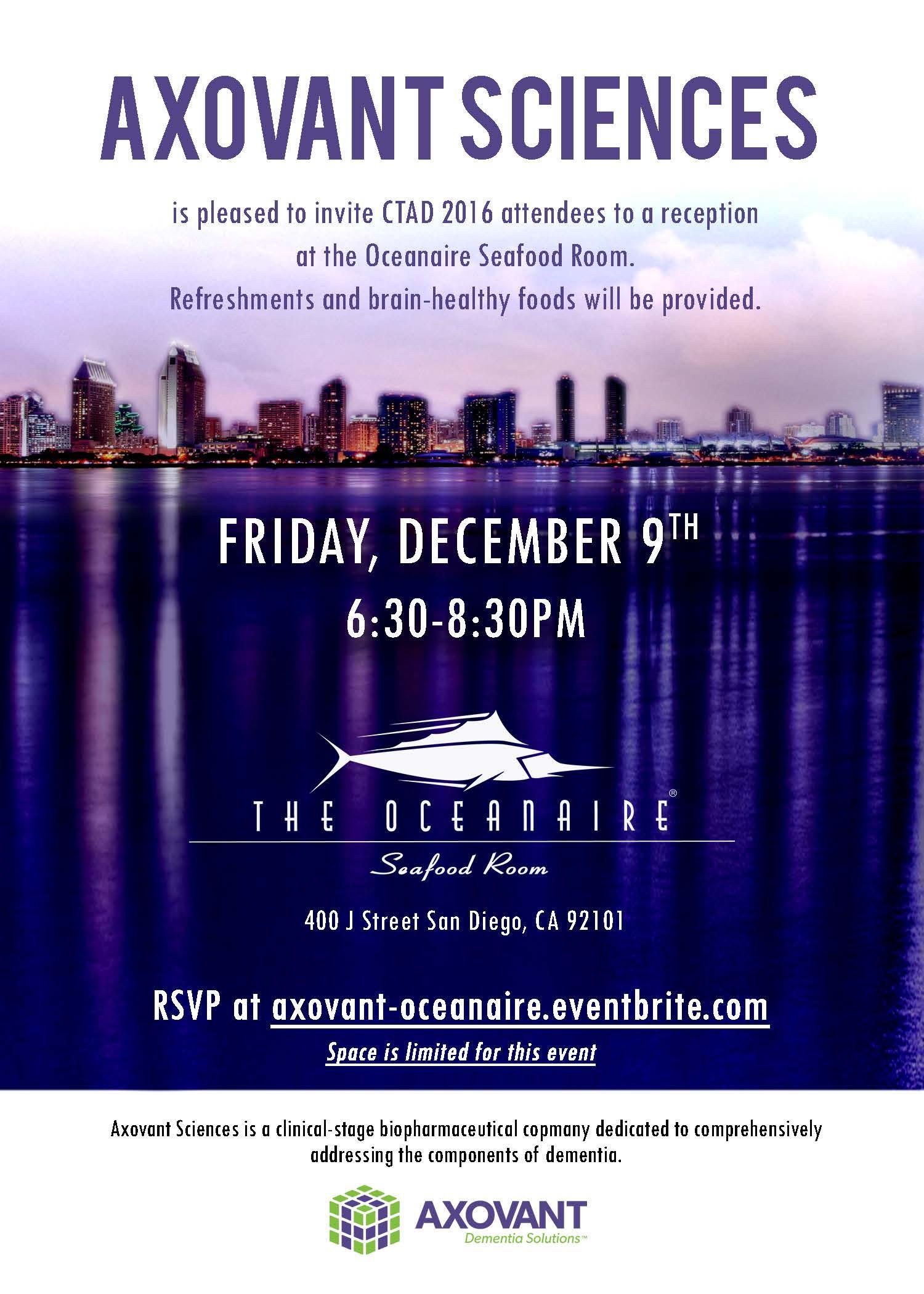 Axovant reception invitation