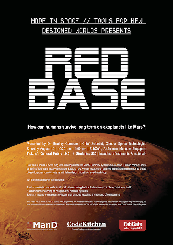Red Base_Made In Space_FabCafe Code Kitchen_Gilmour Space Tech