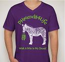 Purple V-Neck T-Shirt Front