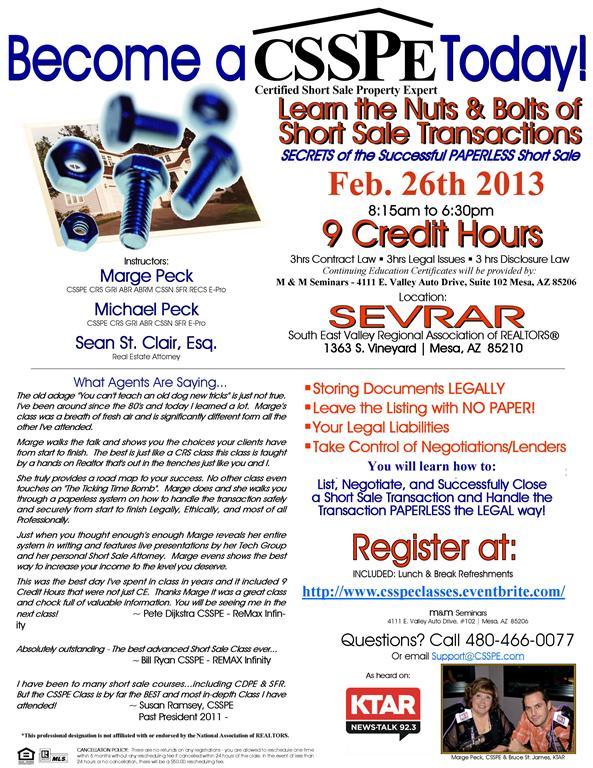 CSSPE SEVRAR Feb 2013