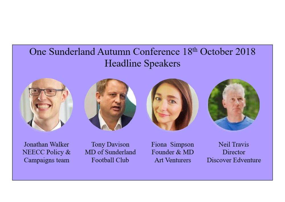 One sunderland autumn conference headline speakers
