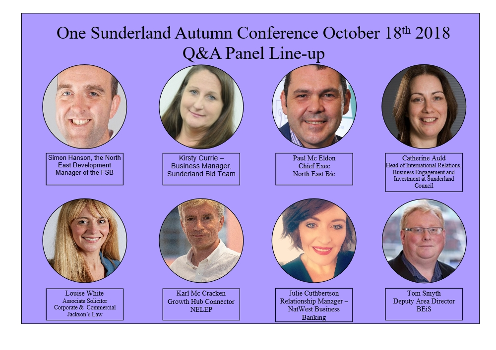 one sunderland autumn conference Q&Apanel