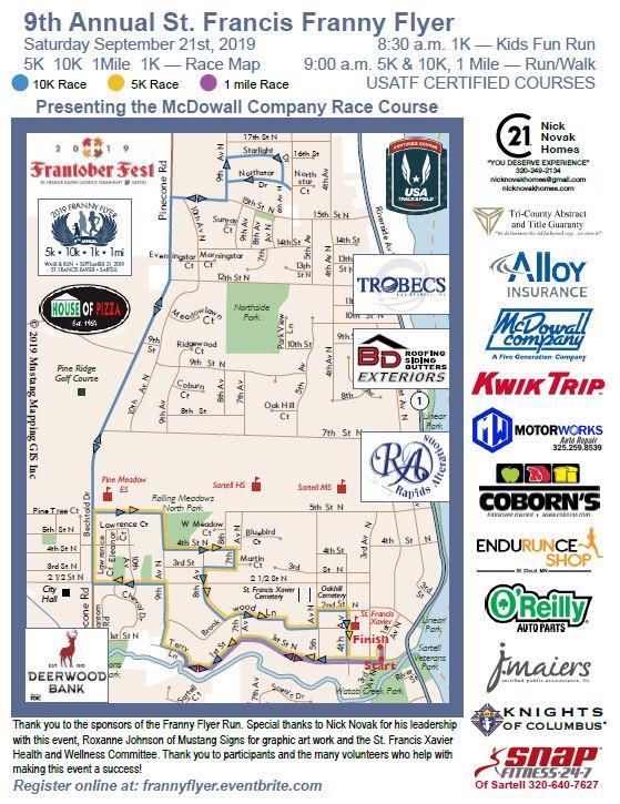 9th Annual St  Francis Franny Flyer 5K, 10K, 1 mile Run/Walk