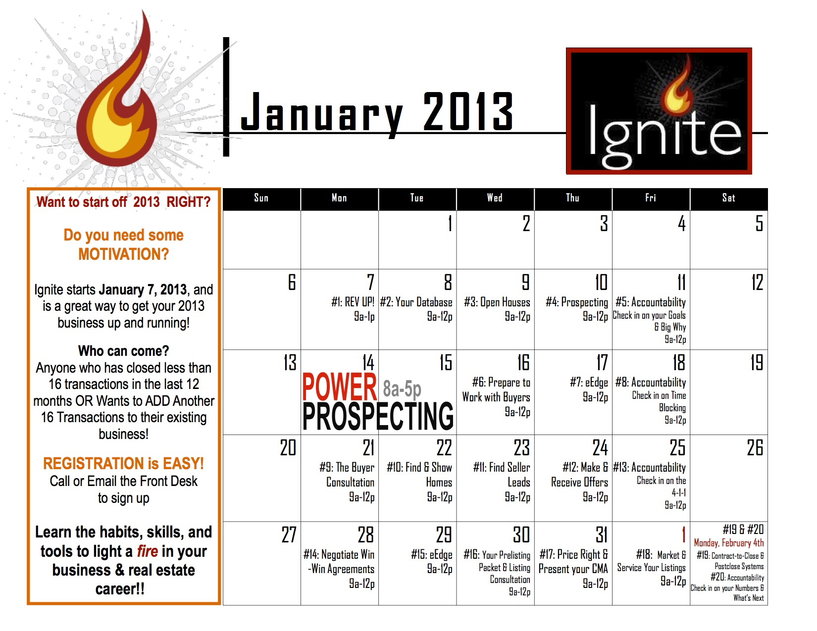 Ignite Calendar