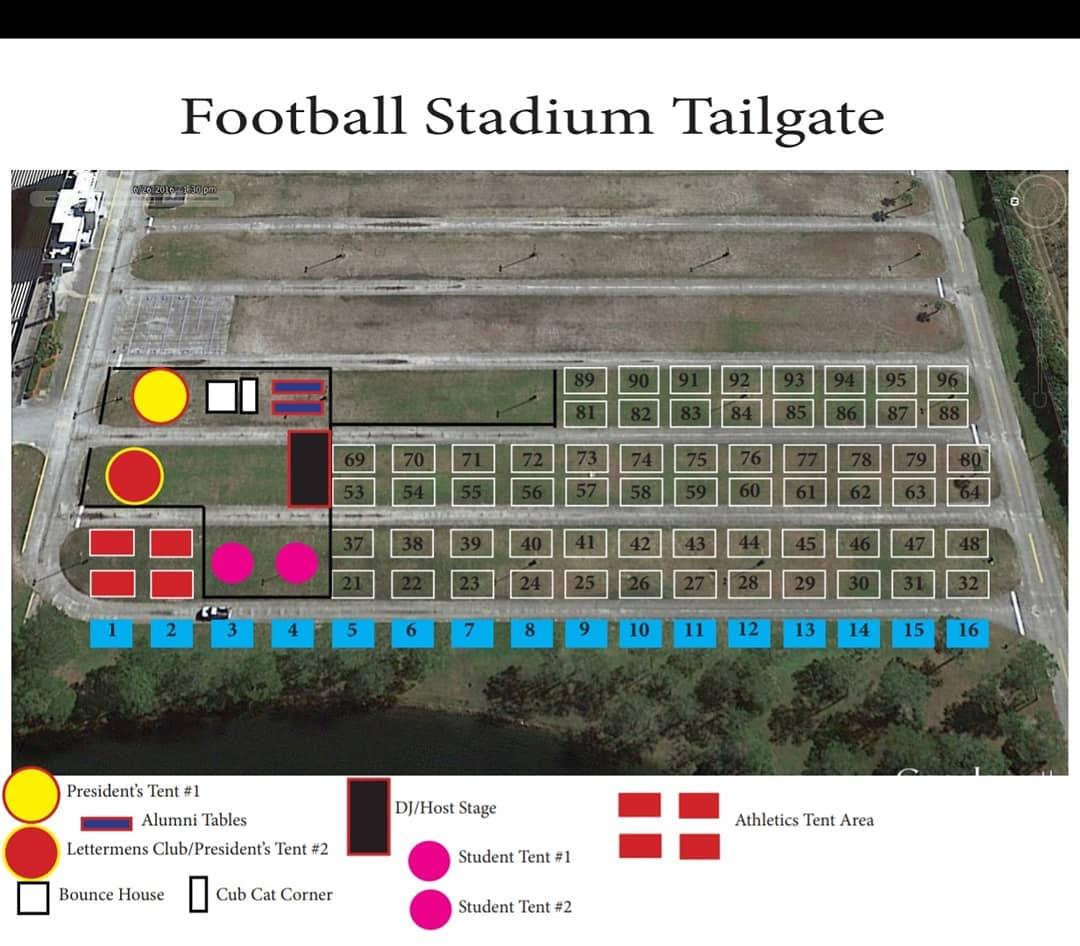 Tailgate Lot Map