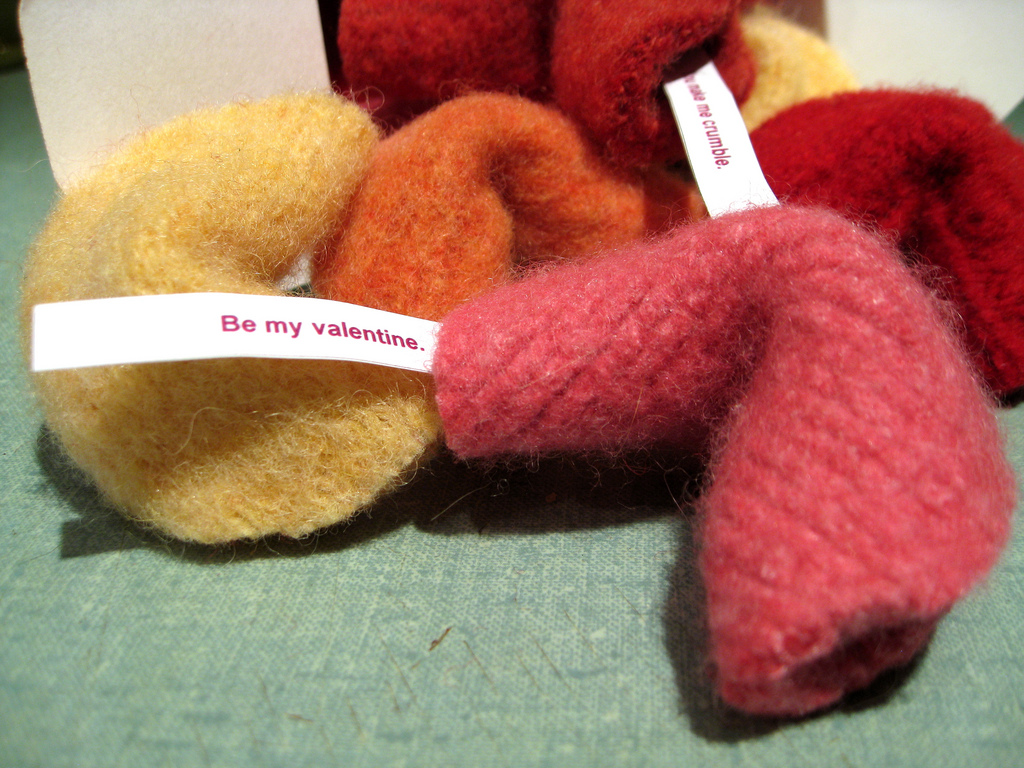 felted fortune cookie