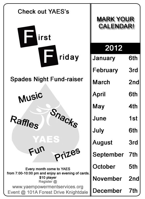 YAES First Friday Card Night FUndrasier