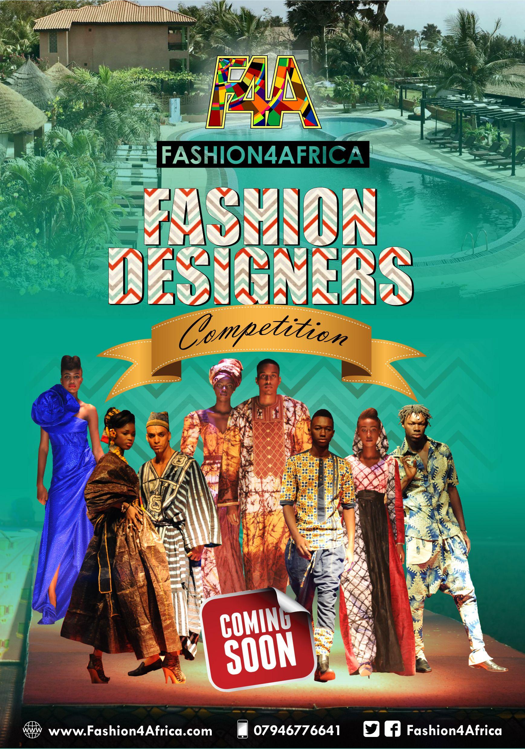 Fashion4Africa designer competition flyer