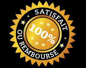 100% Satisfait ou remboursé!
