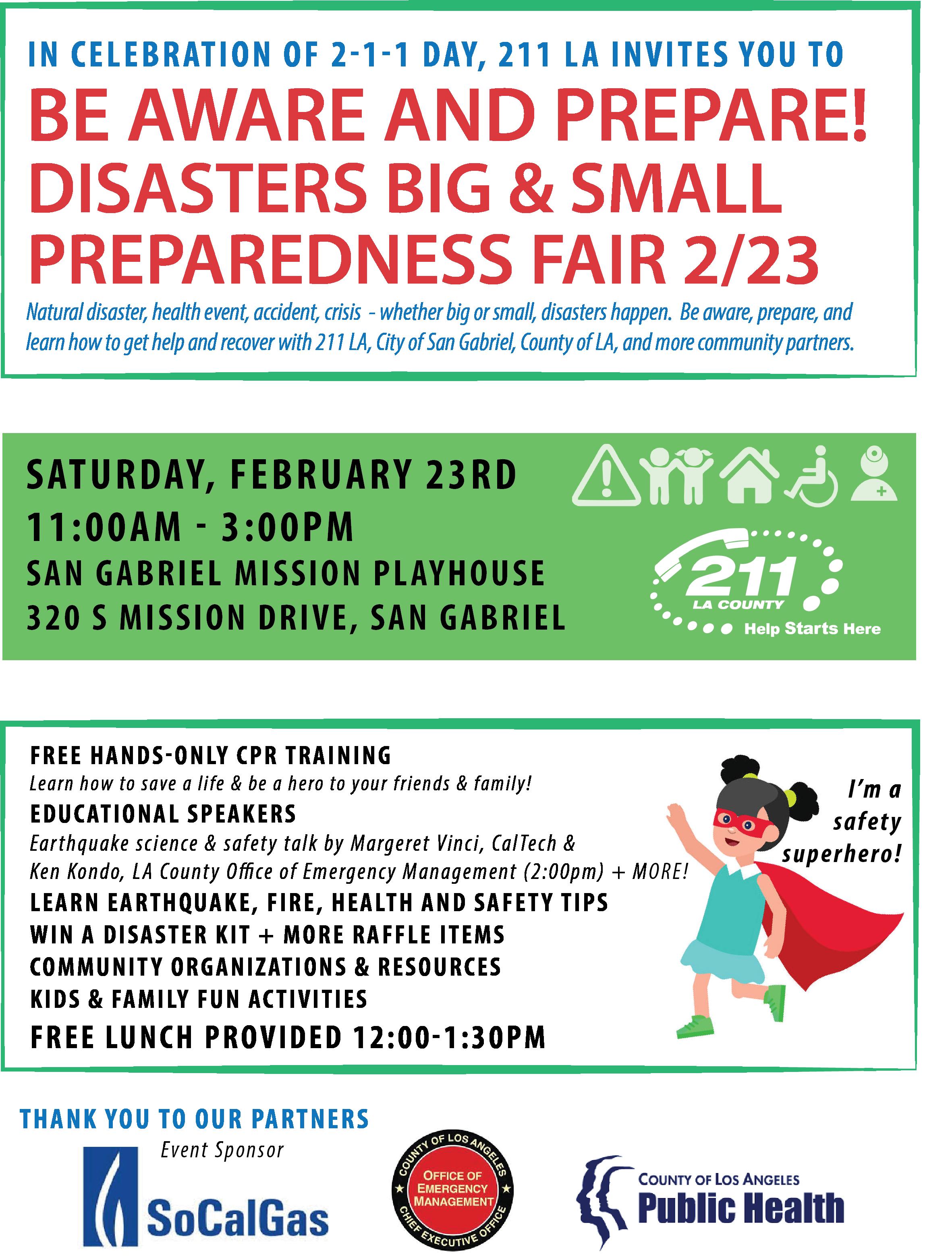 Flyer for February 23rd Prepareathon event