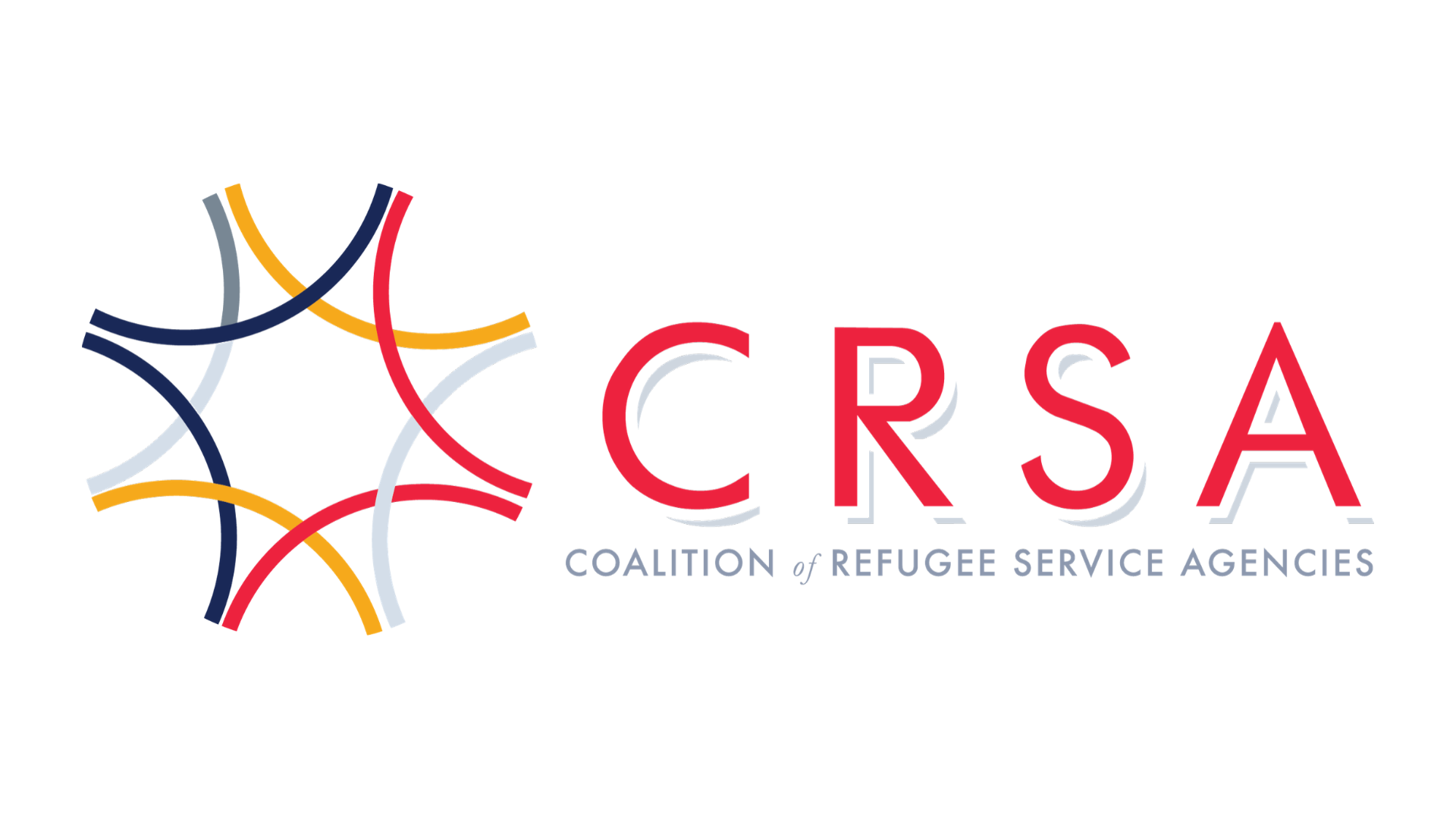 Coalition of Refugee Service Agencies (CRSA) logo on a white background.