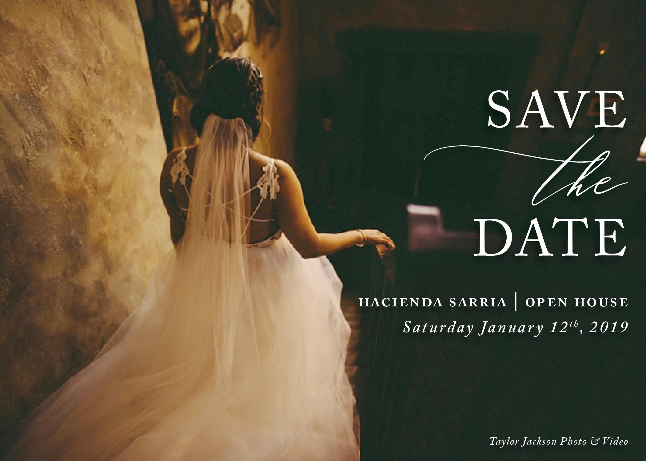 Hacienda Sarria Open House Save The Date