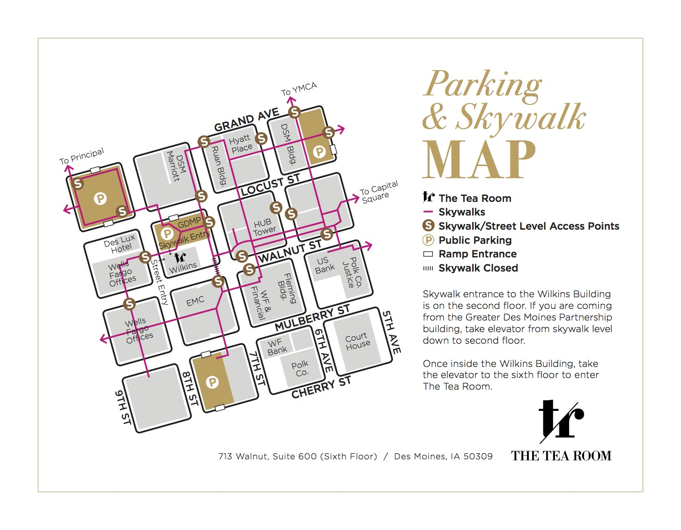 Map of Parking for Event