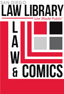 law library law and comics logo
