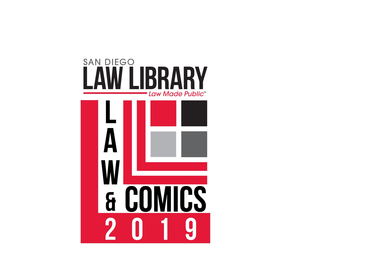 2019 law and comics logo