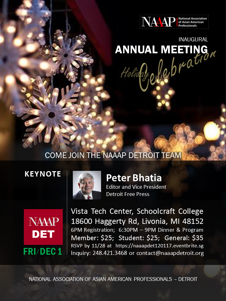 NAAAP Detroit Inaugural Annual Meeting on 12/01/2017