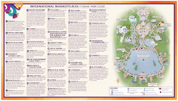 EPCOT Food & Wine Map