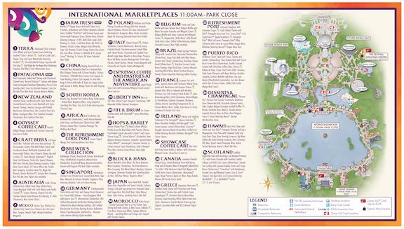 EPCOT Food & Wine Map