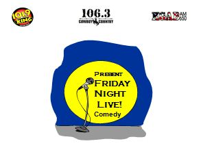comedy night with logos