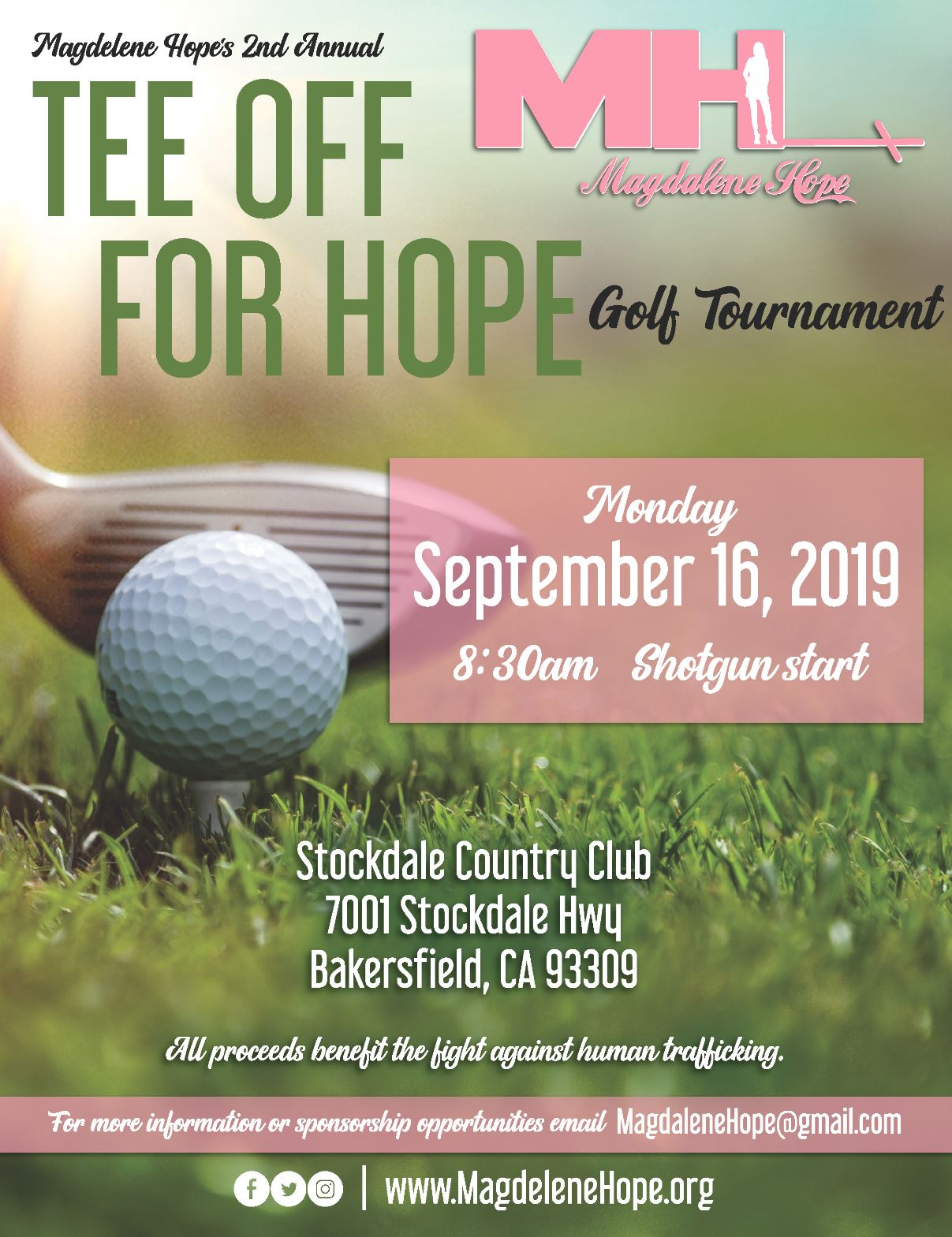 2019 Magdalene Hope Tee Off For Hope Golf Tournament